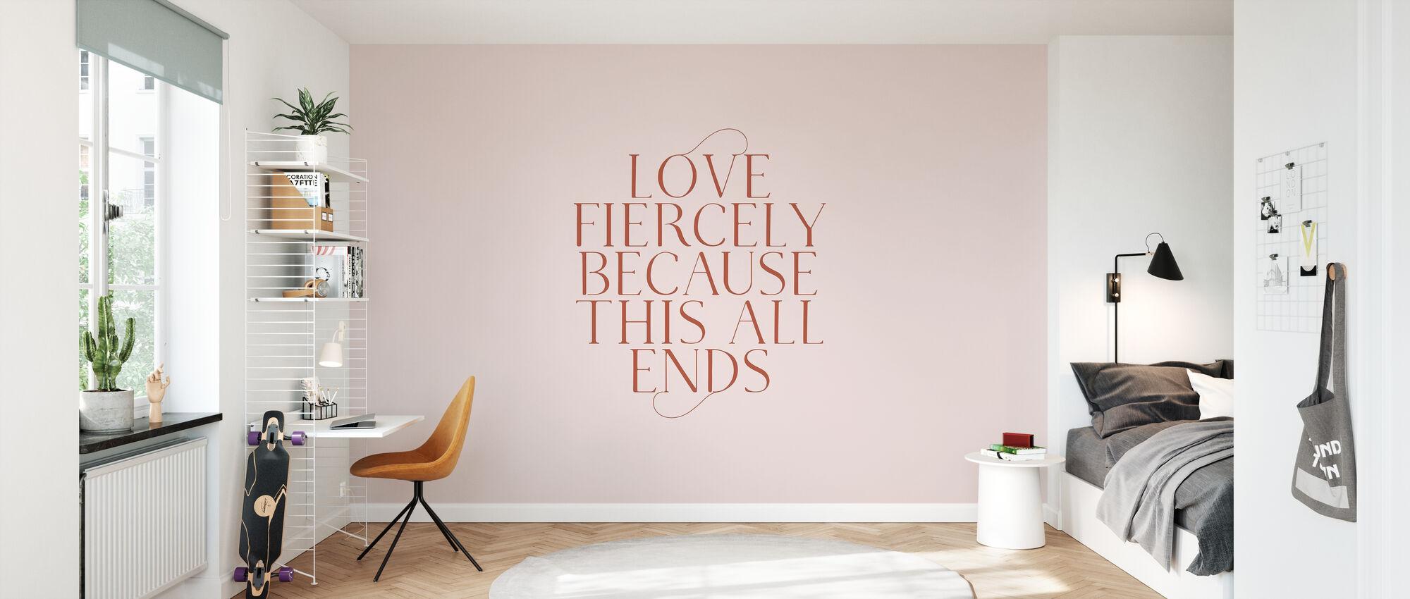 Liefde fel - Behang - Kinderkamer