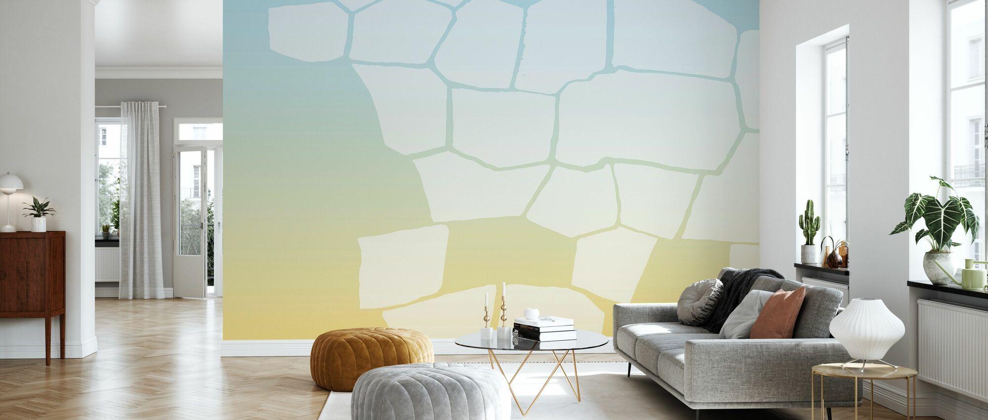 Käännetty keltainen seinä - Tapetti - Olohuone