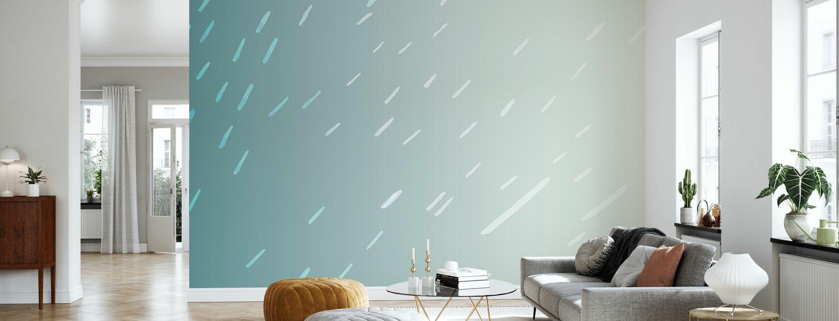 Tropical Rain - Wallpaper - Living Room