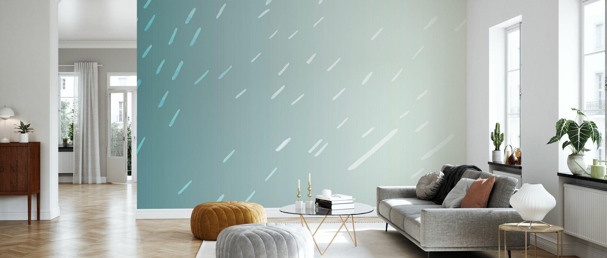 Tropische regen - Behang - Woonkamer