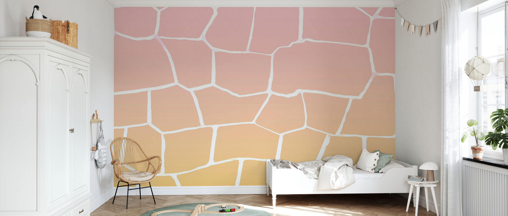 Red Wall - Wallpaper - Kids Room