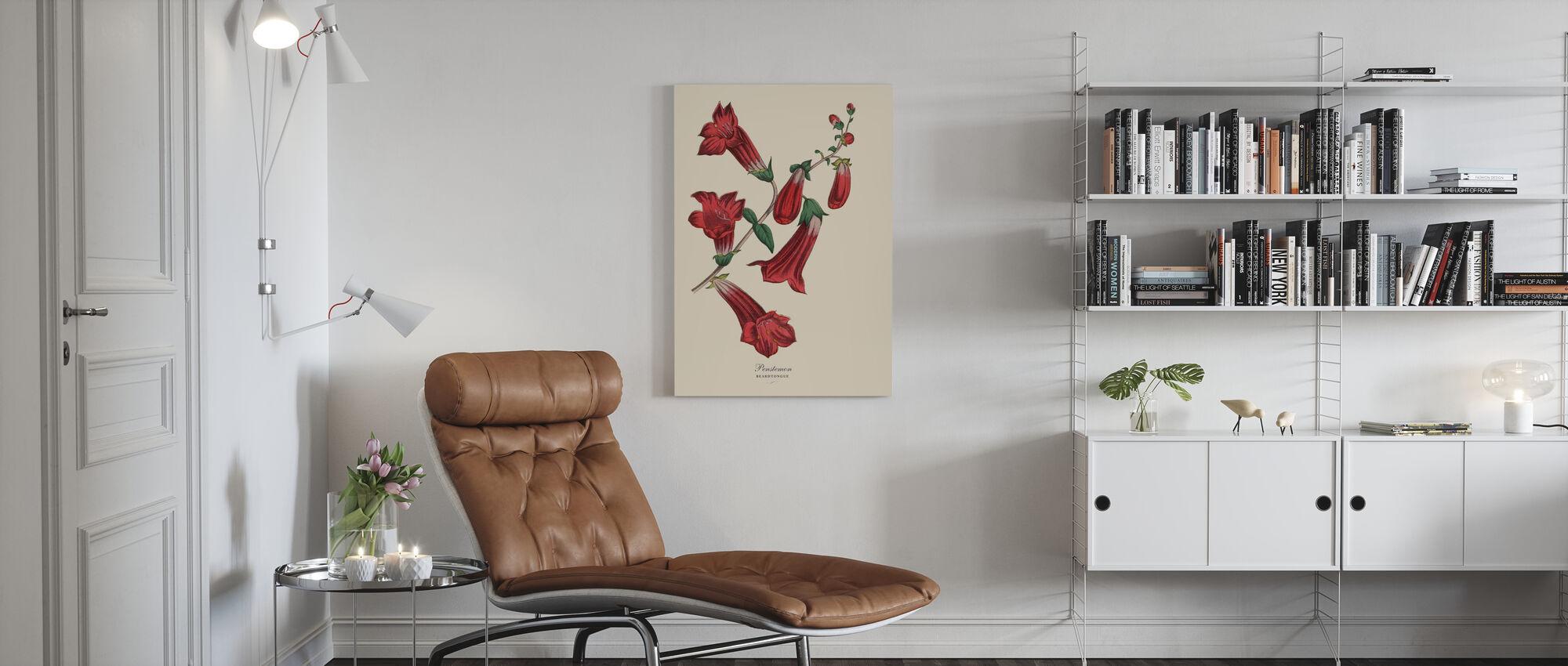 Beardtongue Plant - Canvas print - Living Room