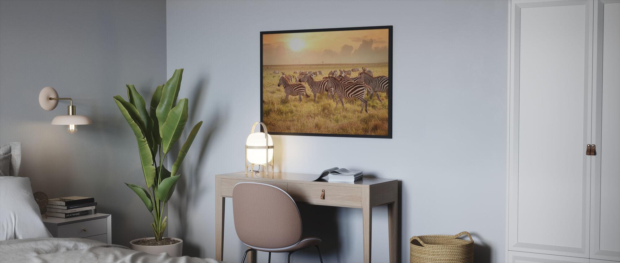 Zebraer i morgen - Plakat - Soveværelse