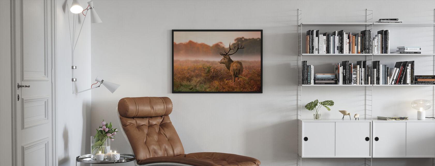 Hert Hert - Ingelijste print - Woonkamer