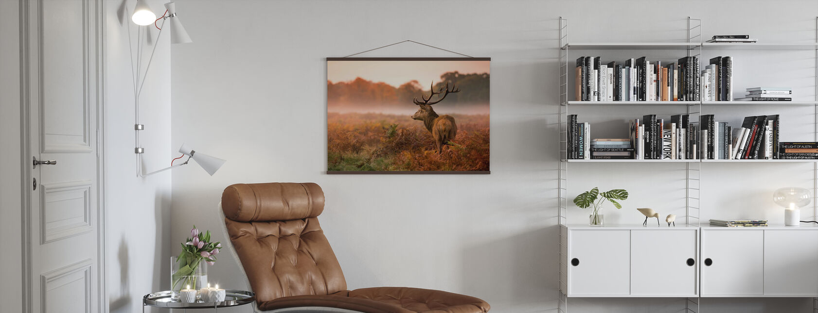 Cerf de cerf rouge - Affiche - Salle à manger