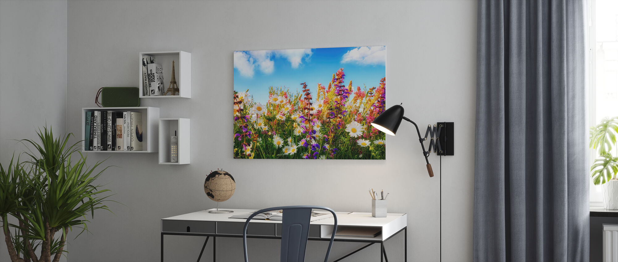 Flowers on a Meadow - Canvas print - Office