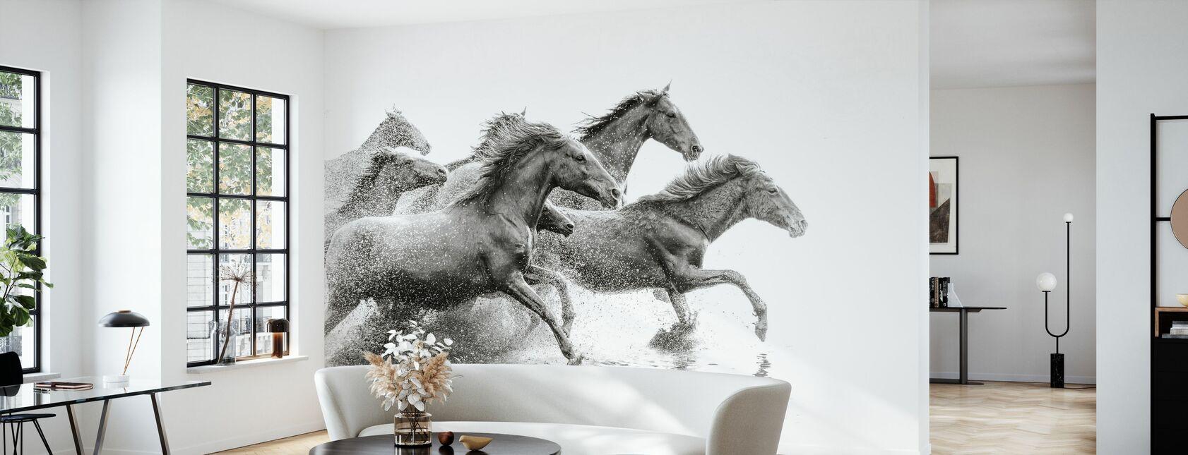 Herd of Wild Horses - Wallpaper - Living Room
