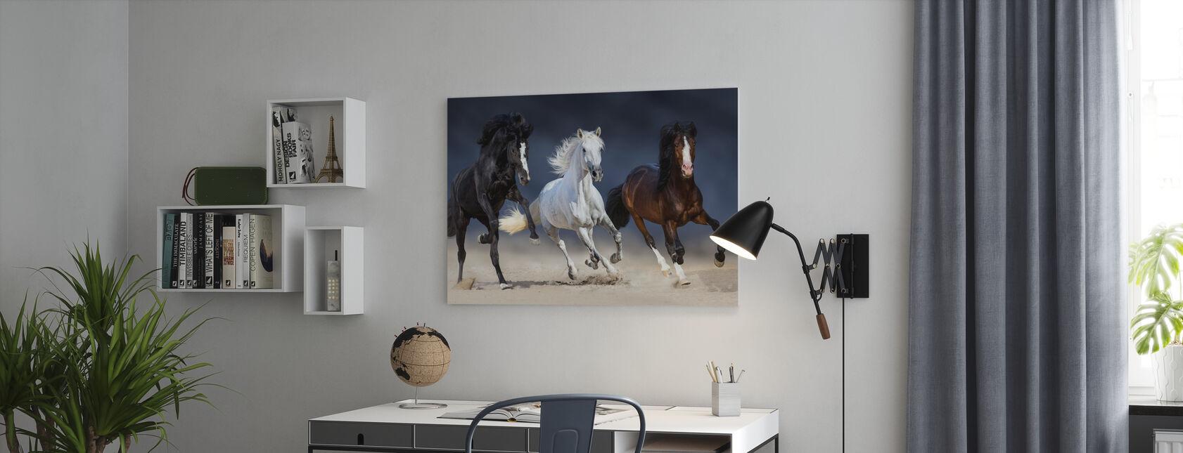 Drei Pferde laufen - Leinwandbild - Büro