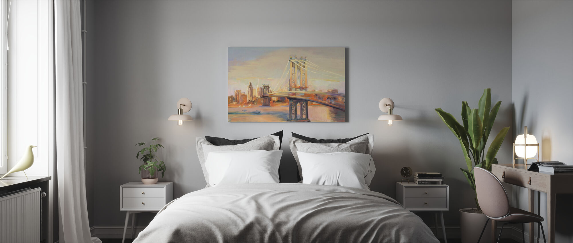 Manhattan Reflection - Canvas print - Bedroom