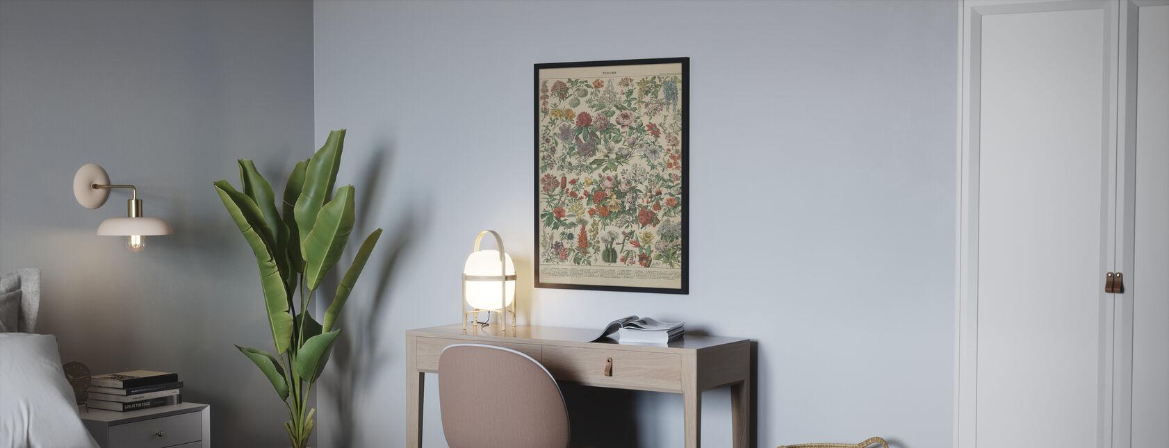 Grafico floreale francese - Poster - Camera da letto
