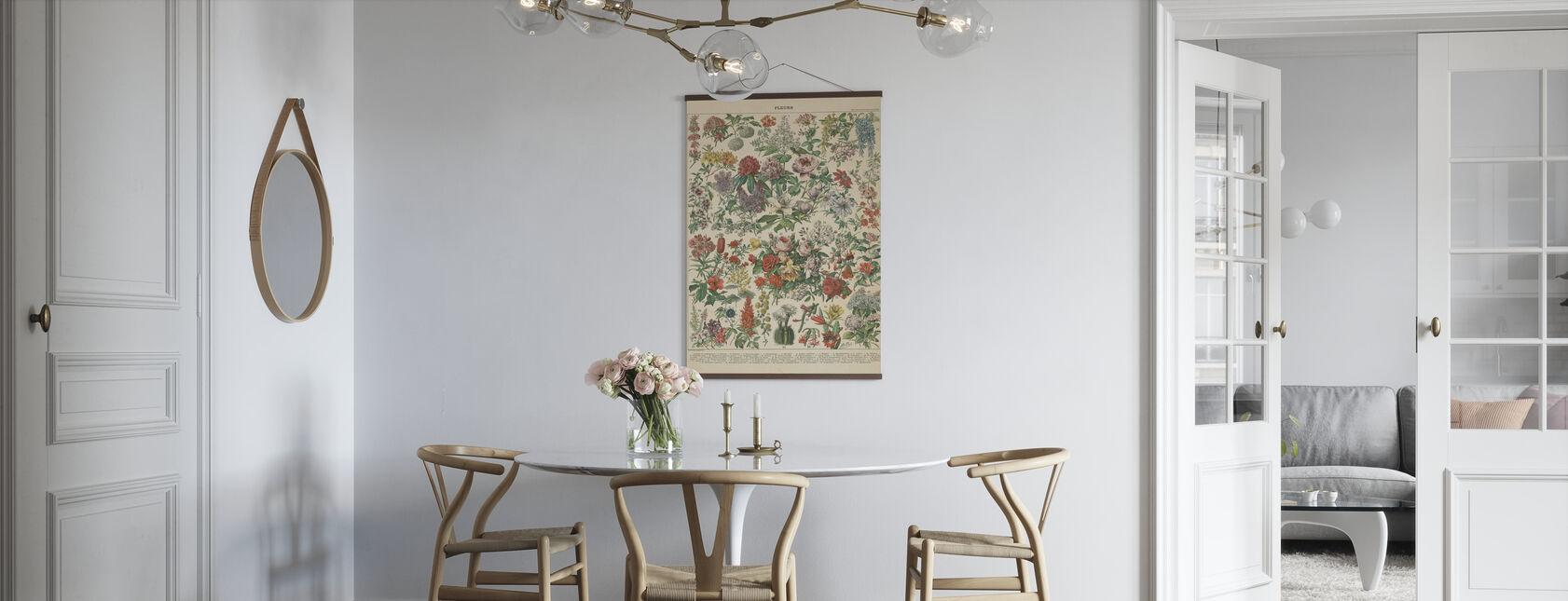 Grafico floreale francese - Poster - Cucina