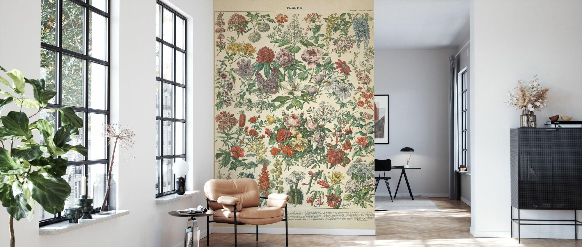 Ranskalainen kukkakuvio - Tapetti - Olohuone