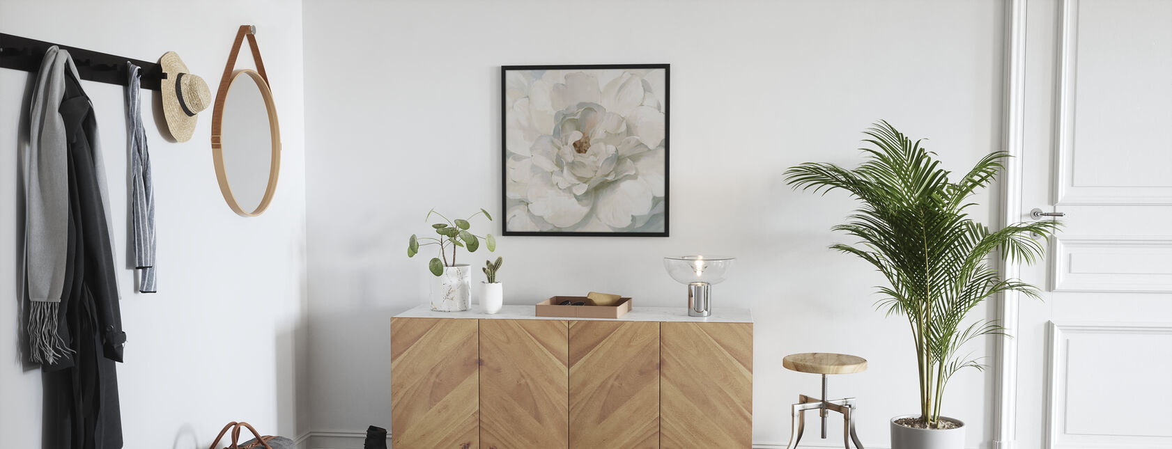 Neutral Peony - Framed print - Hallway