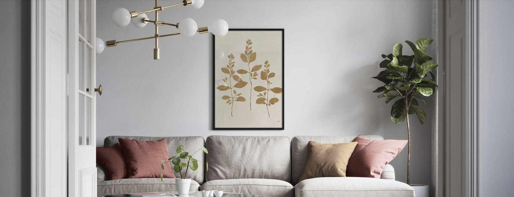 Botanisk studie - Poster - Vardagsrum