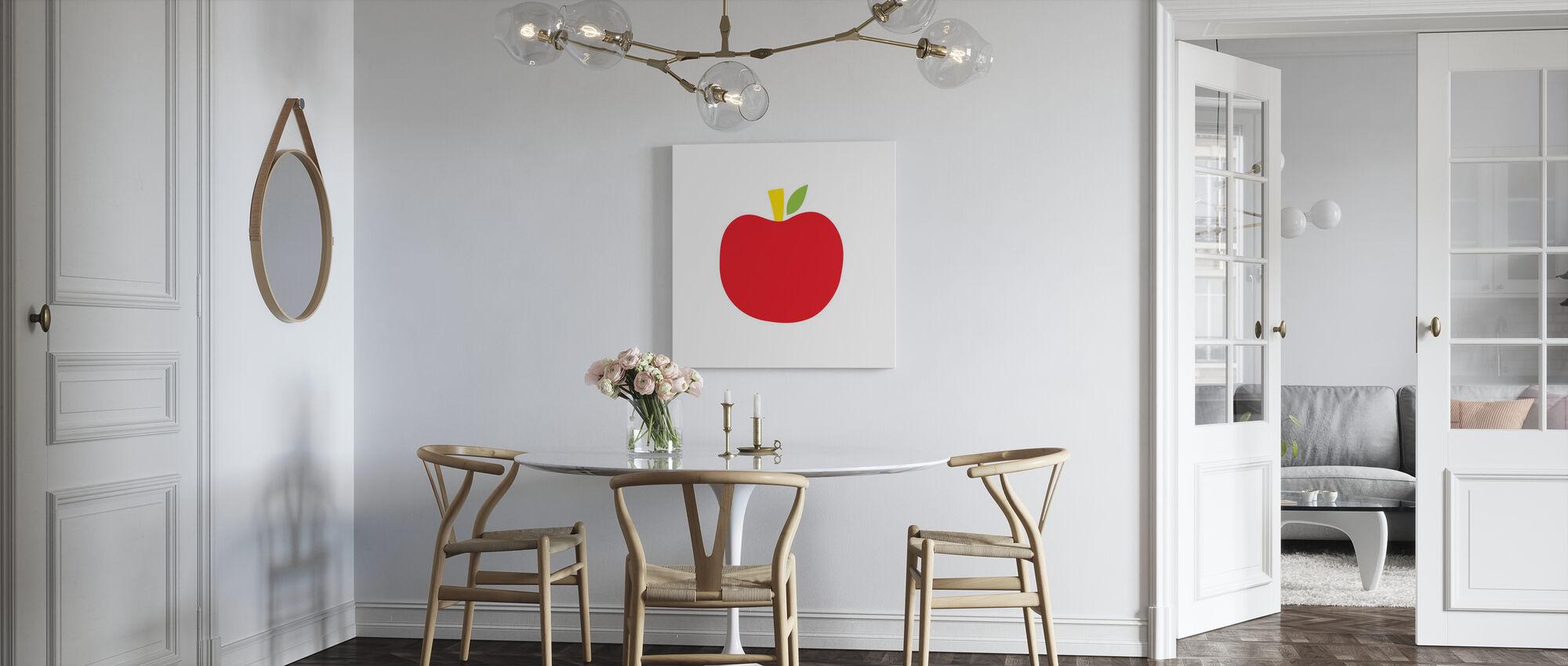 Röd Apple - Canvastavla - Kök