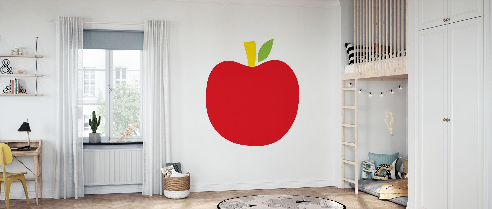 Rode Appel - Behang - Kinderkamer
