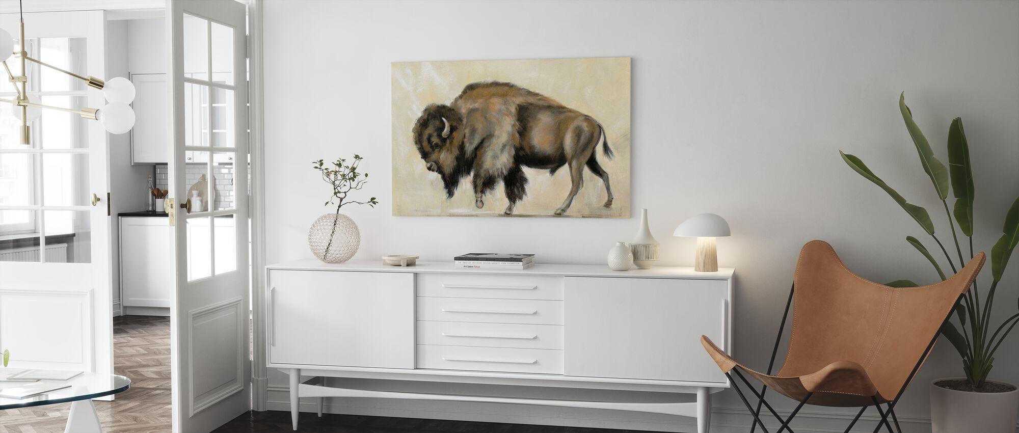 Brons Buffalo - Canvastavla - Vardagsrum