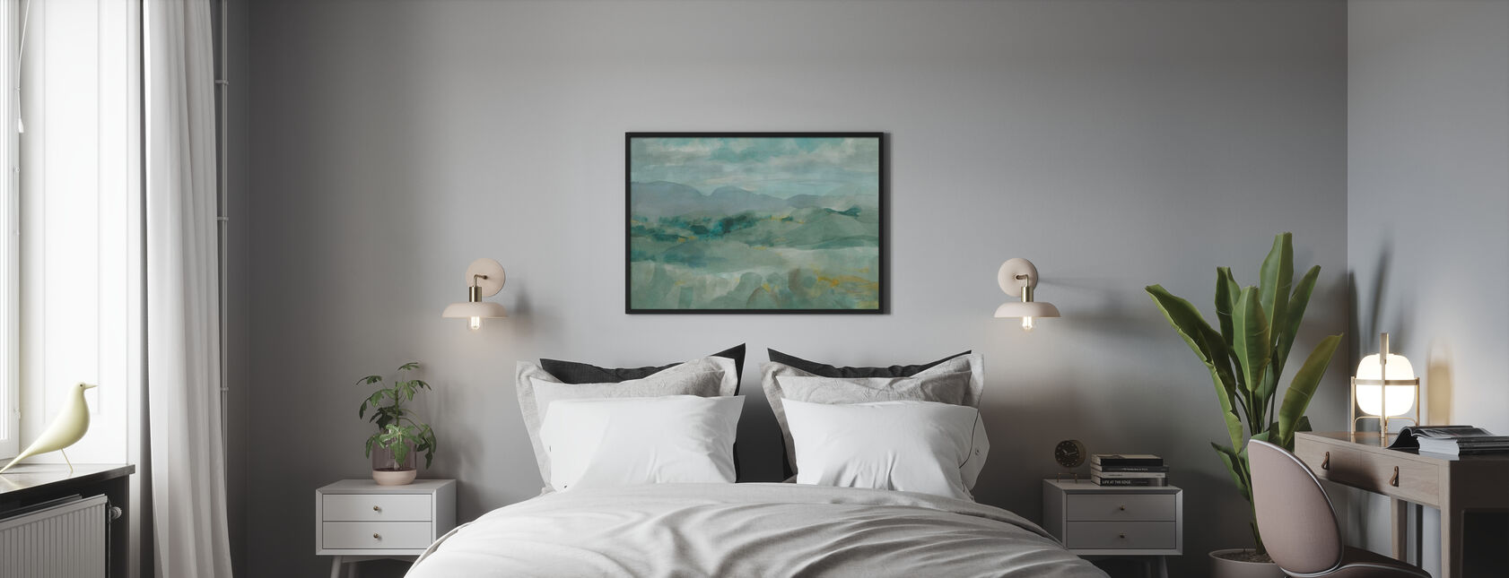 Green Mountain View - Poster - Bedroom