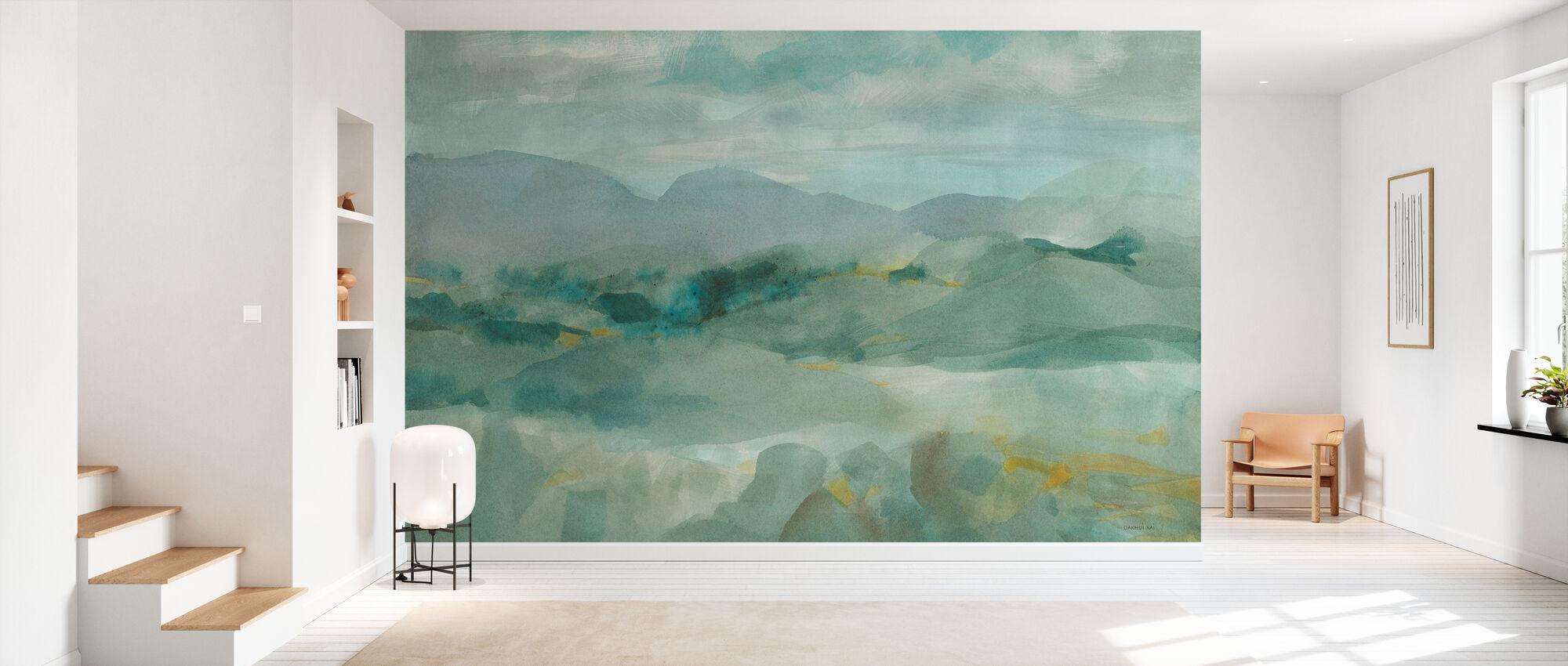 Grön utsikt över bergen - Tapet - Hall