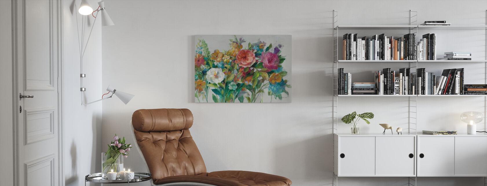 Land Blommorna Neutral - Canvastavla - Vardagsrum