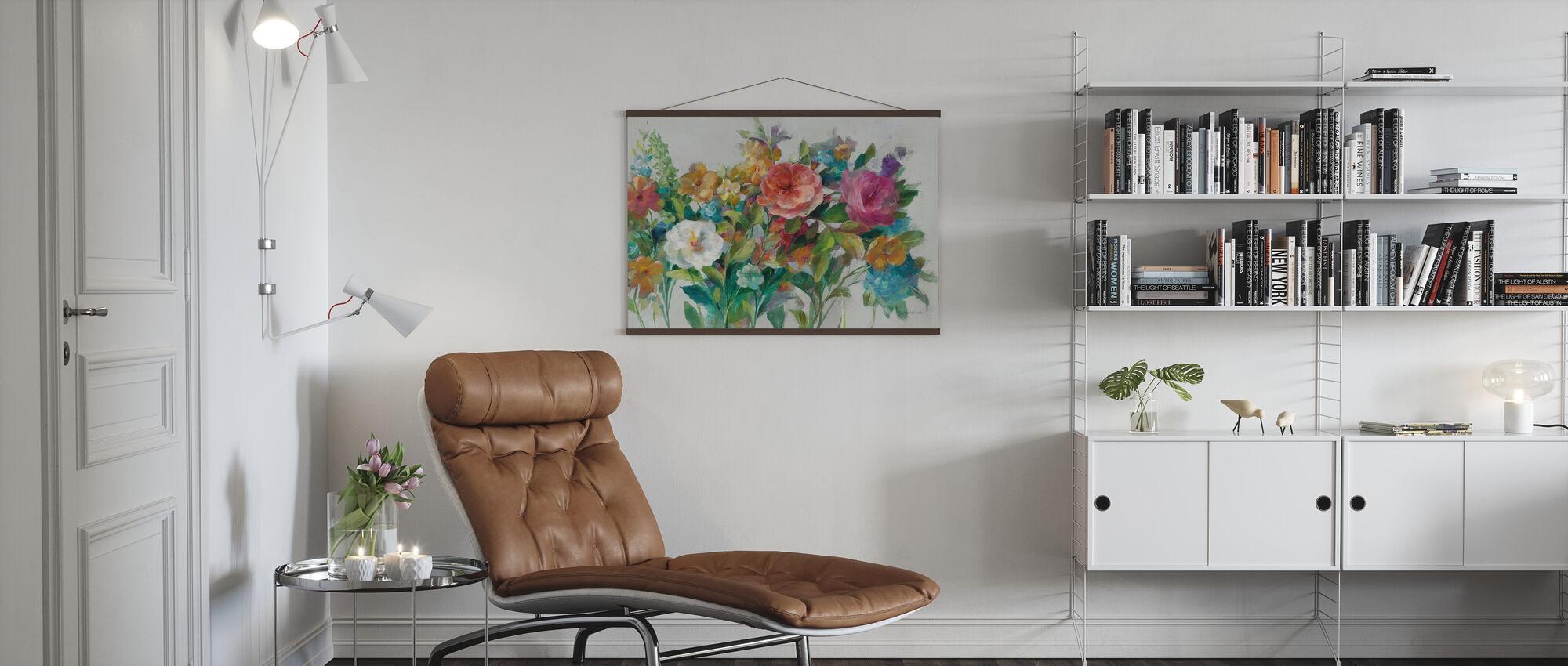 Land Blommorna Neutral - Poster - Vardagsrum