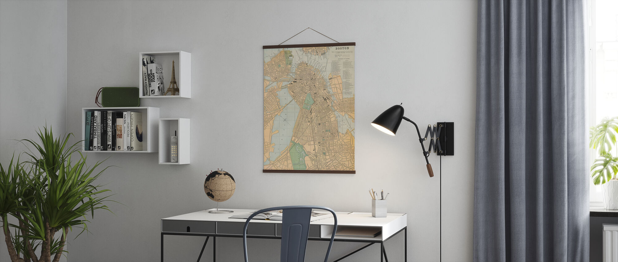 Boston Map - Poster - Office