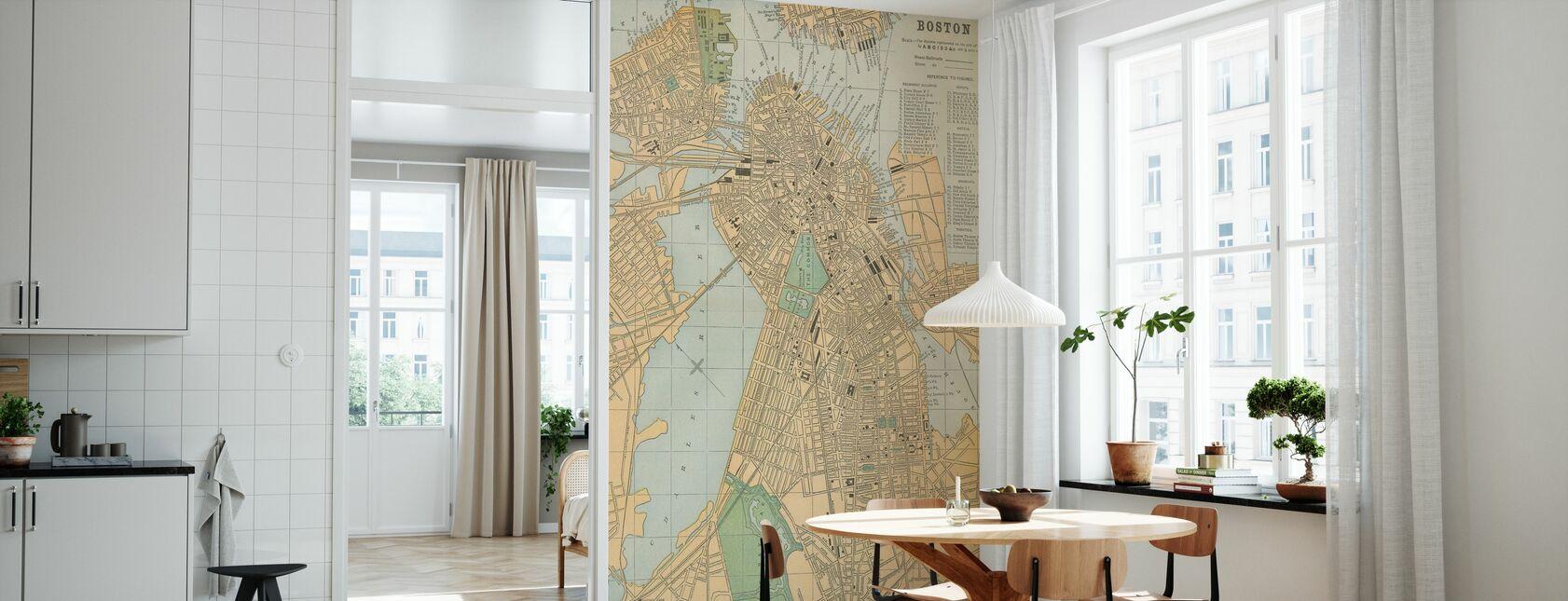 Boston Map - Wallpaper - Kitchen
