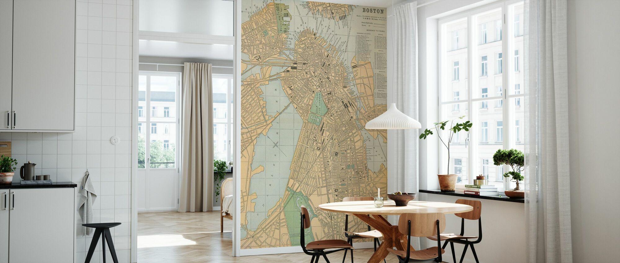 Boston Kartta - Tapetti - Keittiö