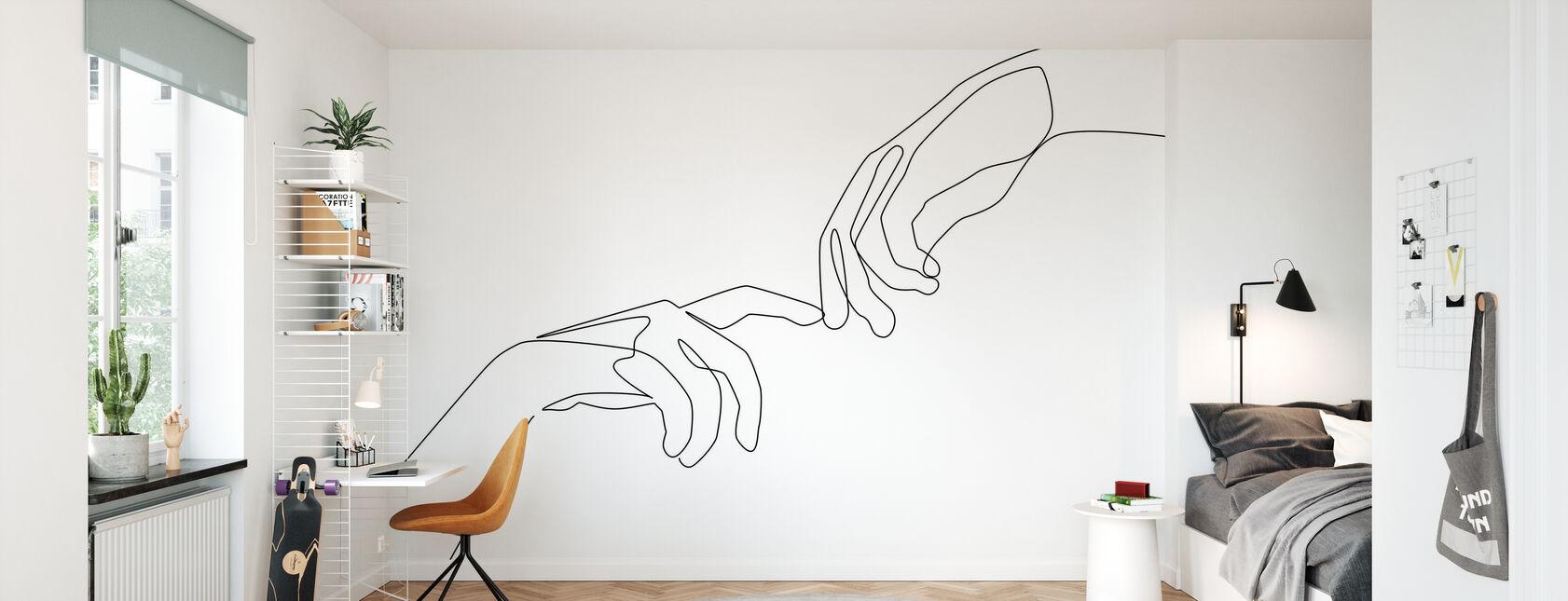 Fingerberøring - Tapet - Barnerom