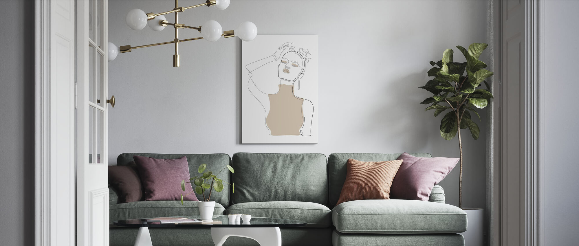 Beige Touch - Canvas print - Living Room