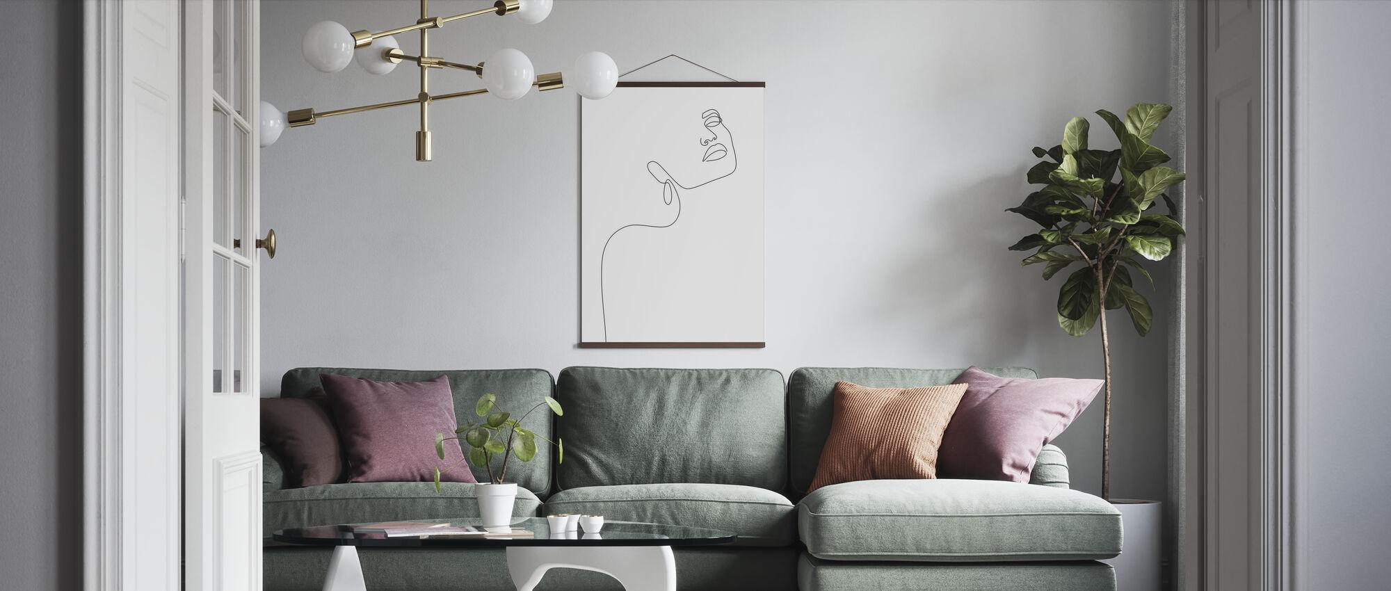 Verträumtes Mädchen - Poster - Wohnzimmer