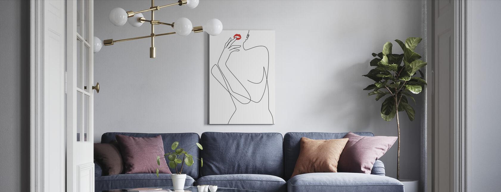 Feminine Minimalism - Canvas print - Living Room