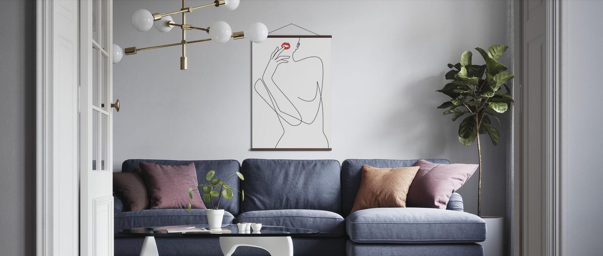 Feminine Minimalism - Poster - Living Room