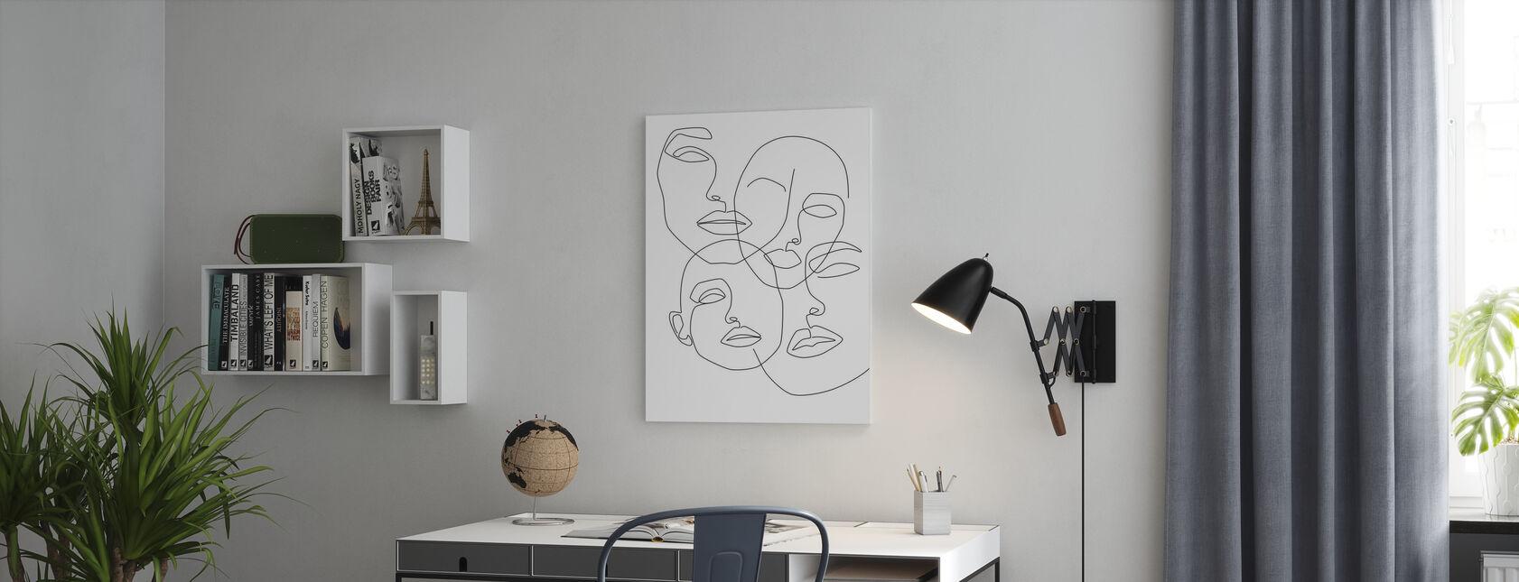 Rommelige gezichten - Canvas print - Kantoor