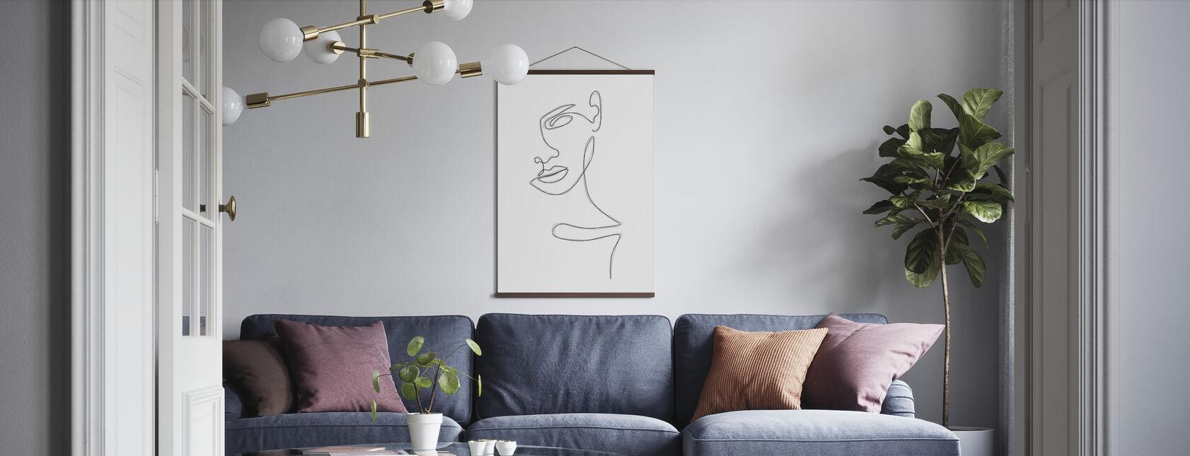 Sketched Portrait - Poster - Living Room
