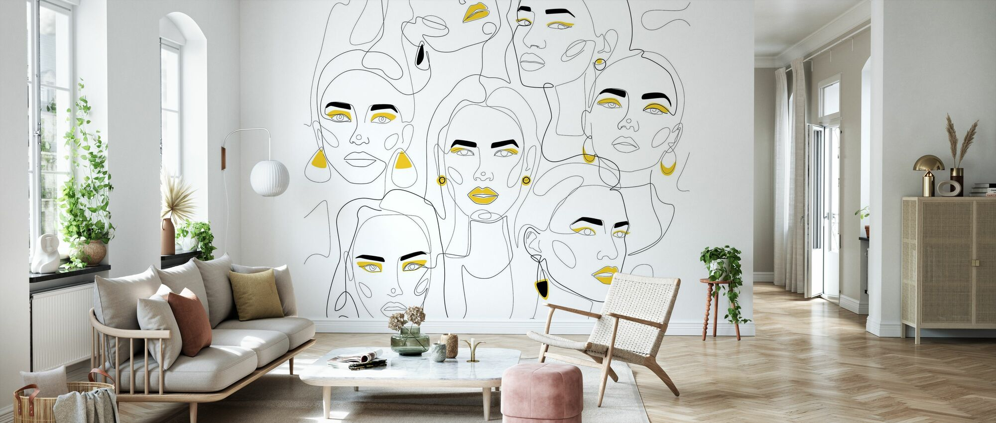 In Mustard II - Wallpaper - Living Room