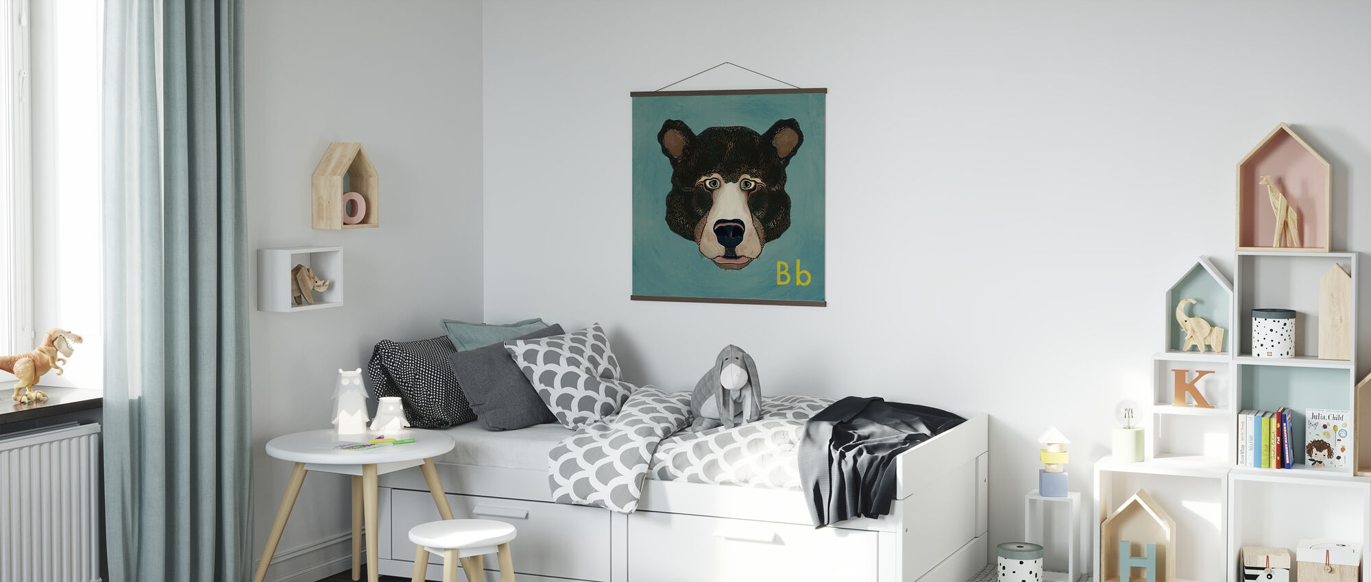 Bear with B - Poster - Kids Room