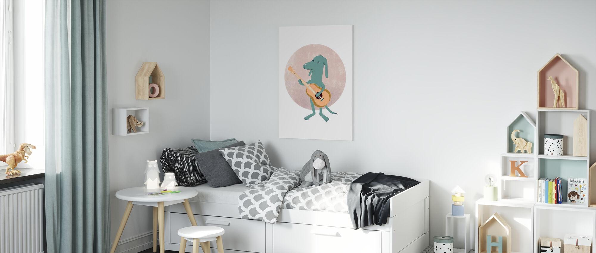 Guitar dog - Canvas print - Kids Room