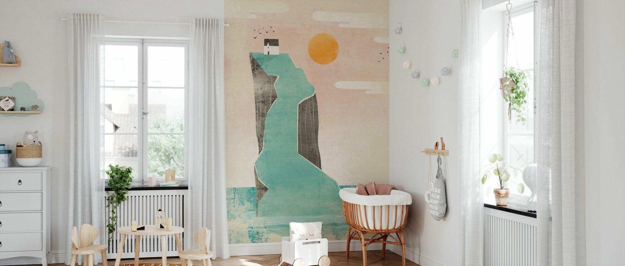 House on the Foggy Hill - Wallpaper - Nursery
