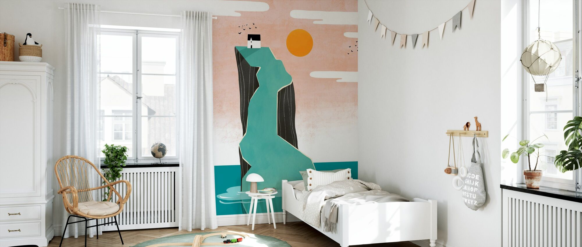 House on the Hill - Wallpaper - Kids Room