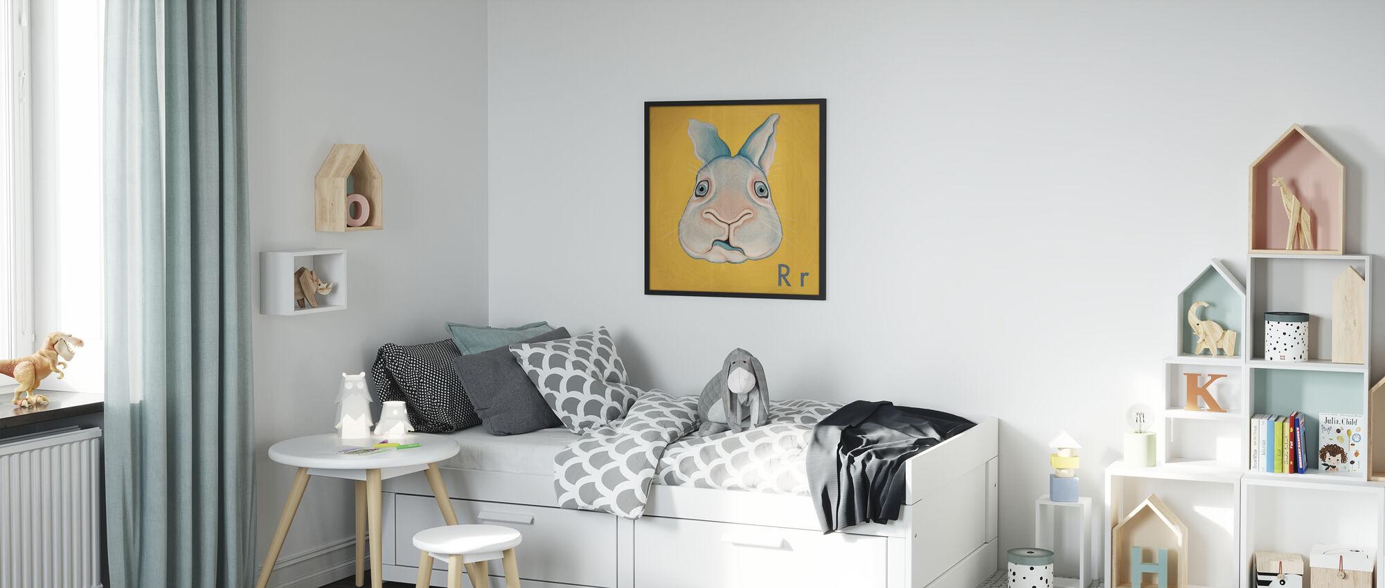 Kanin - Inramad tavla - Barnrum
