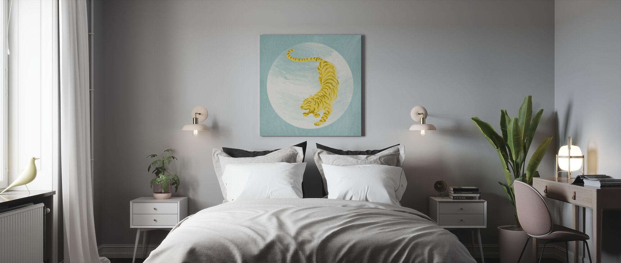 Tijger blauw - Canvas print - Slaapkamer