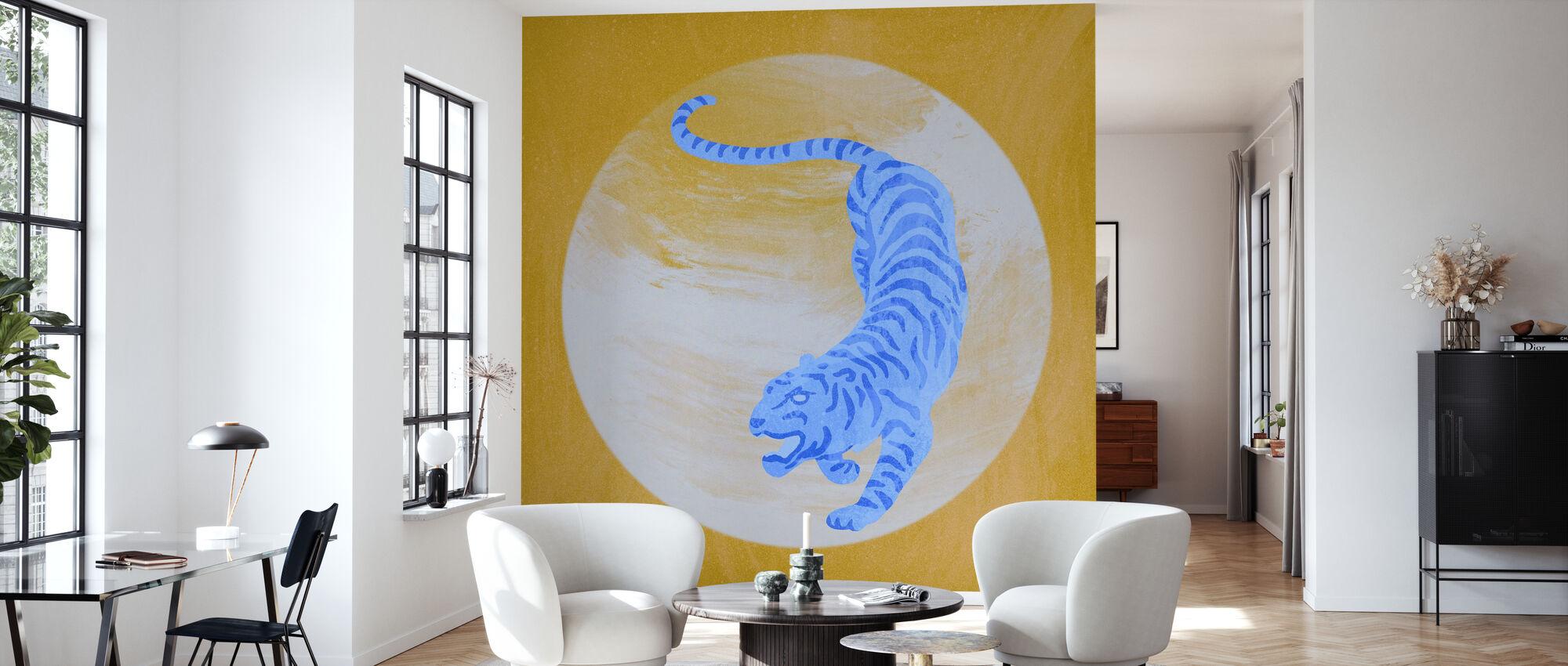 Tigergul - Tapete - Wohnzimmer