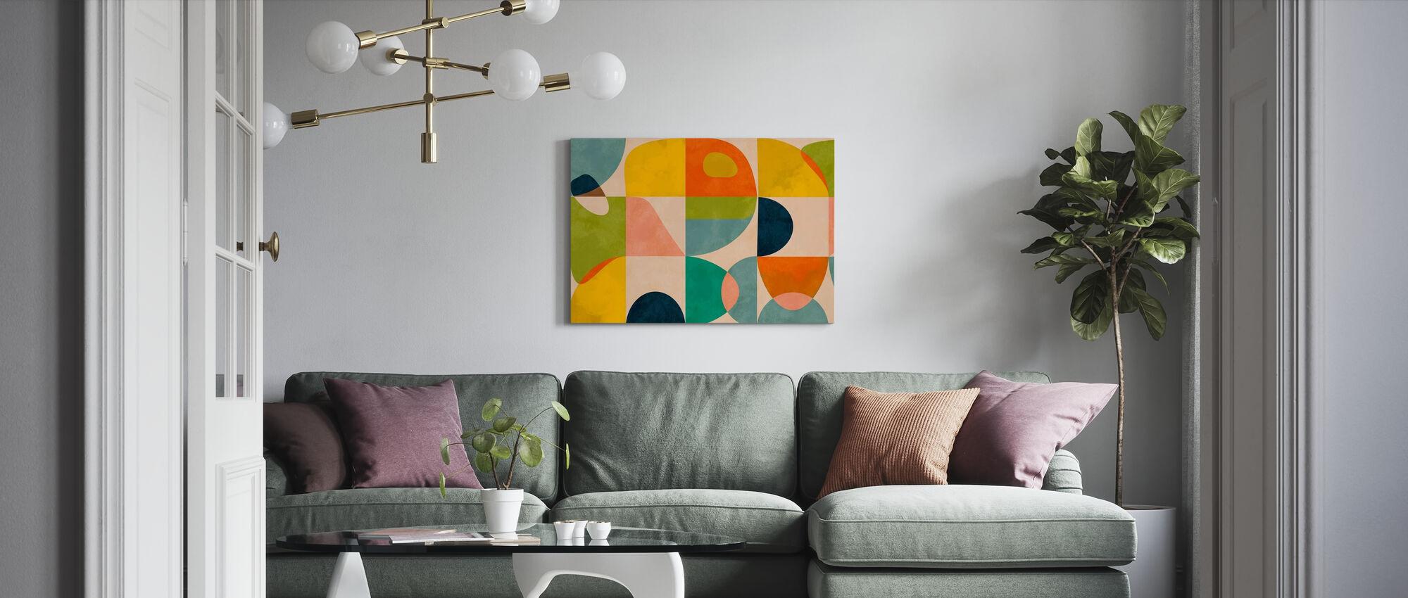 Cirkels Midden Eeuw IIII - Canvas print - Woonkamer