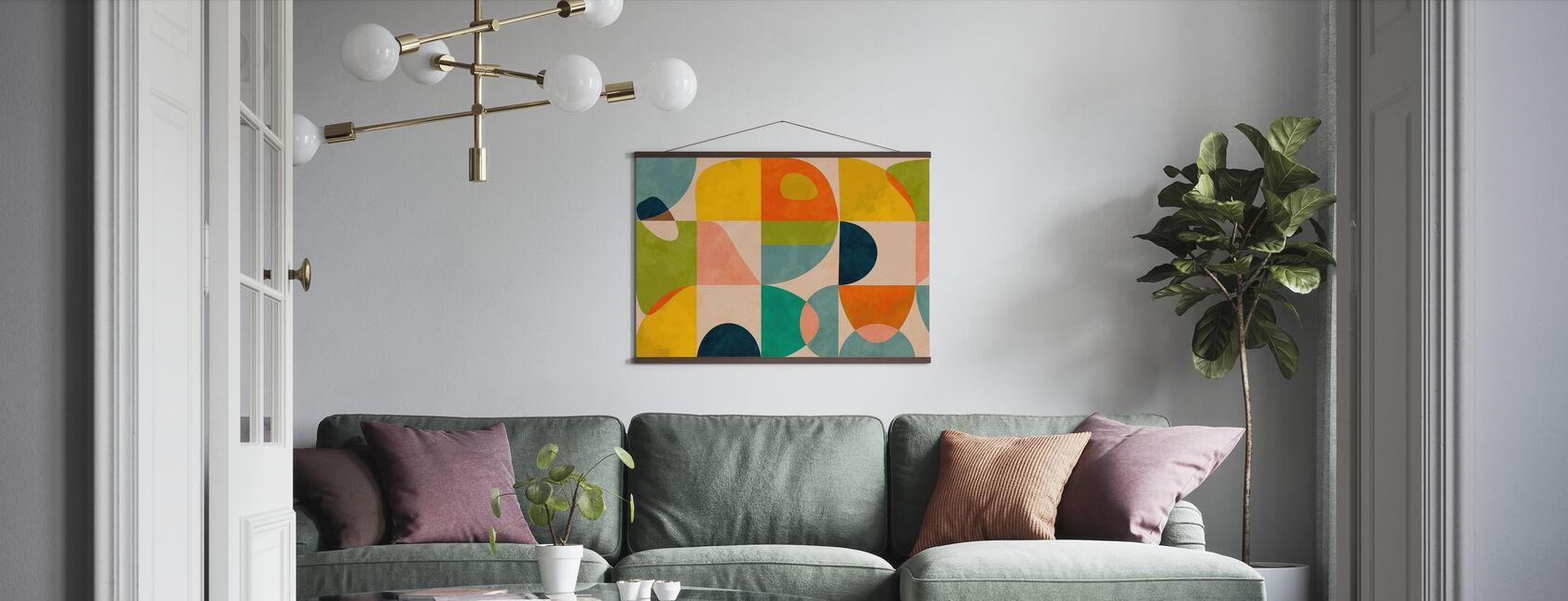 Circles Mid Century IIII - Poster - Living Room