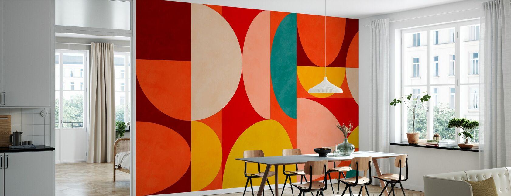 Circles Mid Century X - Wallpaper - Kitchen