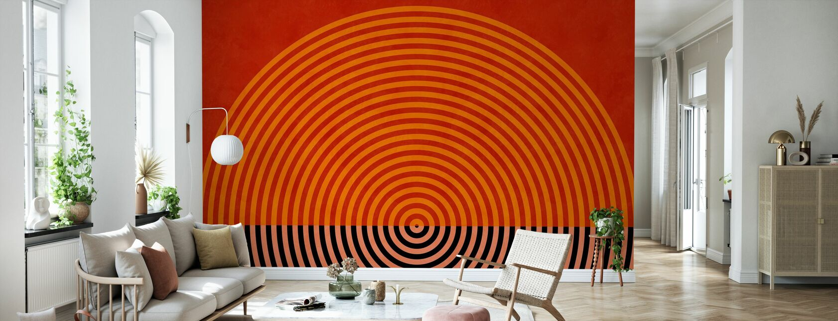 Circles Mid Century XI - Wallpaper - Living Room