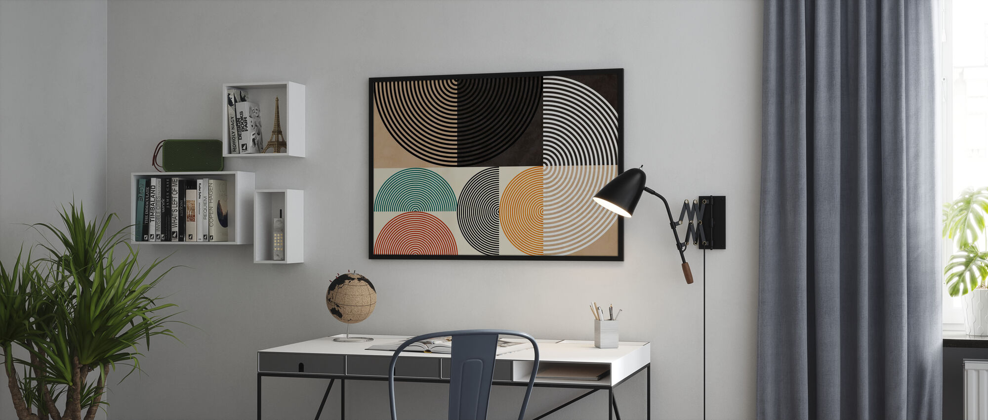 Circles Mid Century XIII - Poster - Office