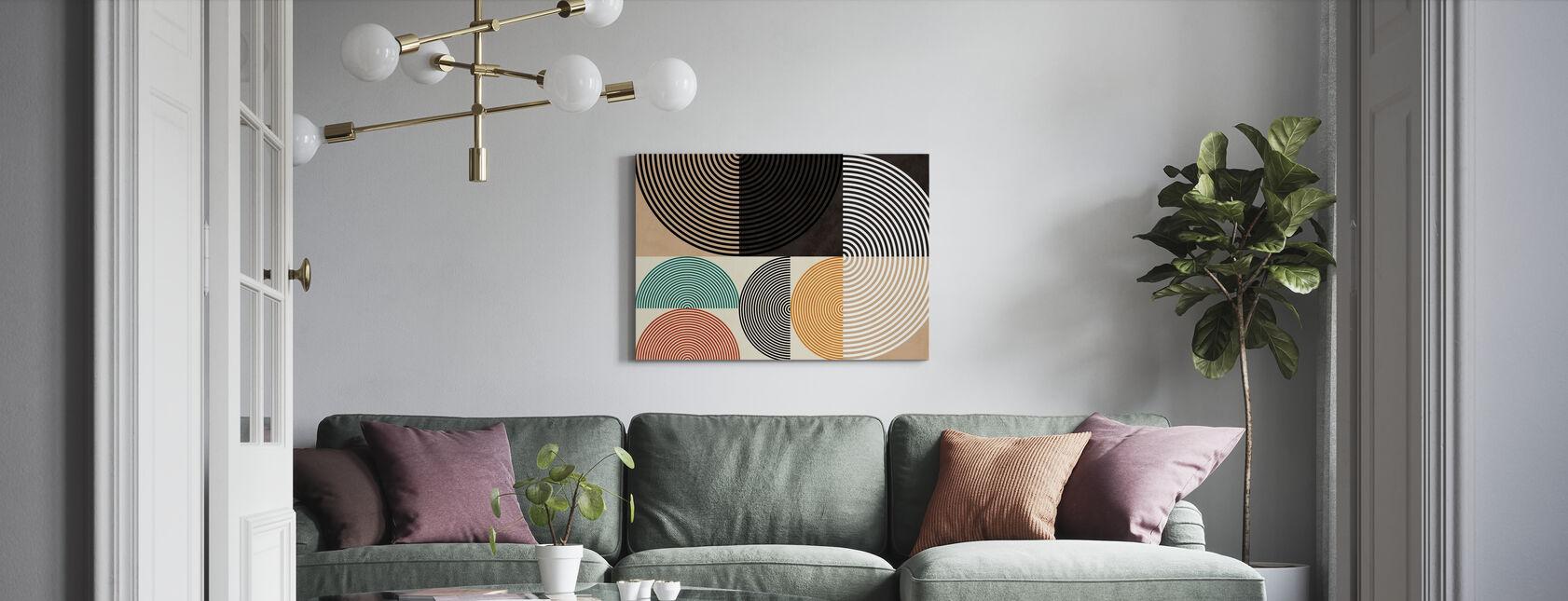 Circles Mid Century XIII - Canvas print - Living Room