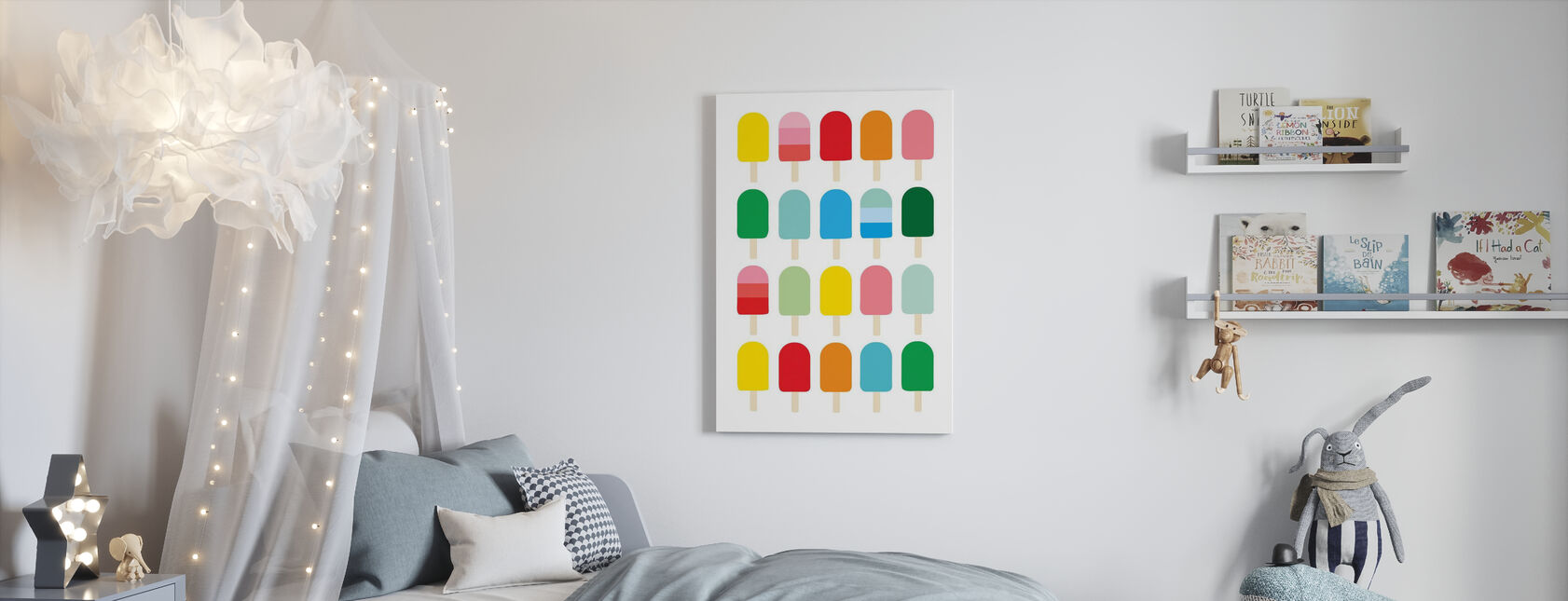 Popcycle Fun - Canvas print - Kids Room